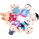 SWT 6 PCS Happy Family Member Finger Puppet Set --- Perfect Gifts for Kids --- Great for Developing a Child's Imagination and Creativity