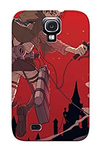 TrNtMxj3912ewNJJ Tough Galaxy S4 Case Cover/ Case For Galaxy S4(attack On Titan) / New Year's Day's Gift