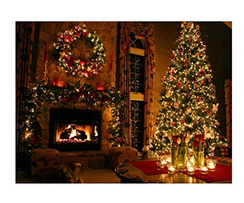 Christmas Mural - Mobicus 5D DIY Diamond Cross Stitch Painting,Living Room Decorative Wall Stickers Wallpaper,Christmas(35X40CM/14X16inch)