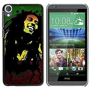 LOVE FOR HTC Desire 820 Jamaica Reggae Music Rasta Weed Personalized Design Custom DIY Case Cover