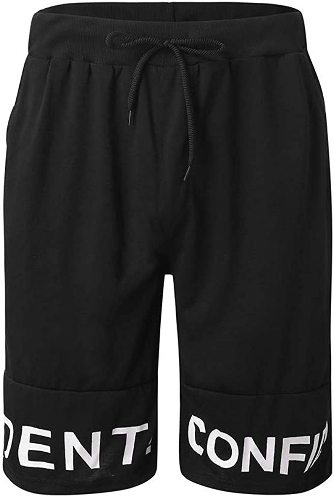 Fanceey Men Shorts Loose Short Trousers Shorts Sweatpants Fitness Workout Running Shorts