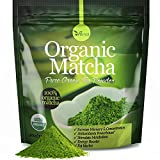 uVernal Organic Matcha Green Tea Powder - 100% Pure Matcha (No Sugar Added - Unsweetened Pure Green Tea - No Coloring Added Like Others) 4oz (1 PACK)