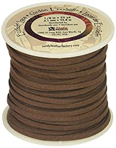 "Leather Factory Ecosoft Lace Spool Dark Brown, 1/8"" x 25yd"