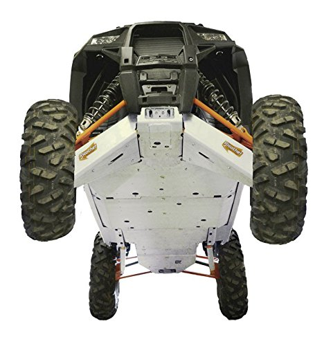 - Polaris RZR XP-4 1000, 12 piece Complete Skid Plate Set by Ricochet Includeing Full Frame Skid Plate Set, Front and Rear A-Arm/CV Boot Guards , Rock Sliders, Footwell Protection, Rear Linkage Guards