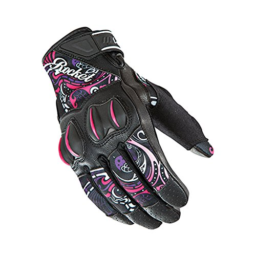 Joe Rocket Cyntek Womens Mesh On-Road Motorcycle Leather Gloves - Eye Candy/Large ()