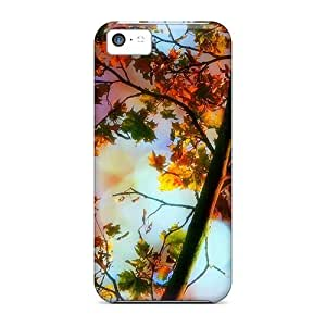 Snap-on Magical Leaves Fall Case Cover Skin Compatible With Iphone 5c