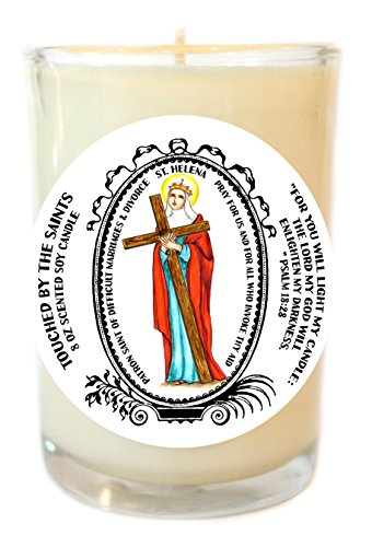 Saint Helena Patron of Divorce 8 Oz Scented Soy Candle by Touched By The Saints