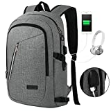 17 cooler bag - NAWO Anti Theft Business Laptop Backpack with USB Charging Port Fits UNDER 17 inch Laptop (Gray)