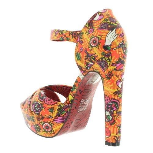 Iron Fist - Zapatos de vestir de material sintético para mujer naranja - naranja