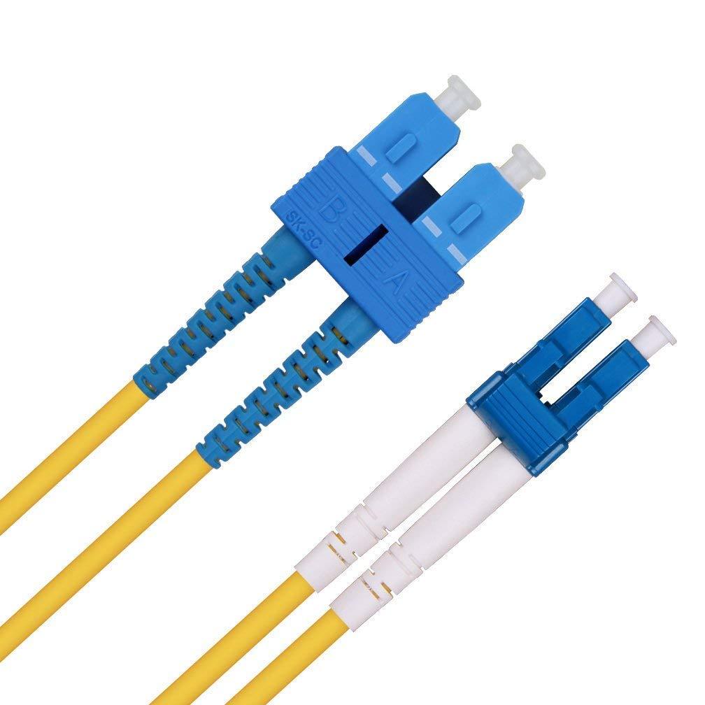 5m Fiber Patch Cable-LC to LC OS1/OS2 Singlemode Duplex 9/125 Fiber Optic Cable for 10Gb/Gigabit SFP Transceiver -ipolex OS2-LC-LC-D5M-1pc-IP