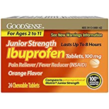 GoodSense Junior Strength Ibuprofen Pain Reliever/Fever Reducer Tablets, 100 mg, 24 Count