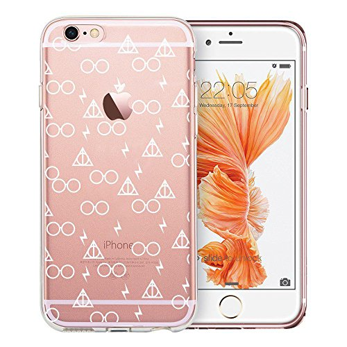 Design Embossed Pattern Soft TPU Bumper Shock Absorption Slim Protective Cover for iPhone 6s iPhone 6 4.7 inch(Death Hallows) ()