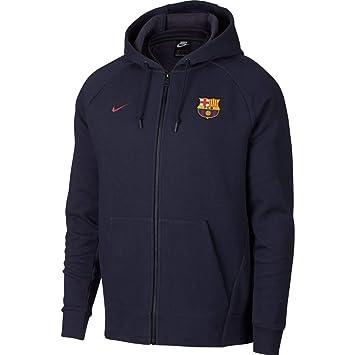 Nike FC Barcelona Authentic Chaqueta, Hombre, Obsidian/Cobalt Tint/Heather/Noble