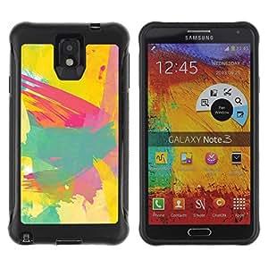 Suave TPU GEL Carcasa Funda Silicona Blando Estuche Caso de protección (para) Samsung Note 3 / CECELL Phone case / / Painting Paint Brush Artist Abstract /
