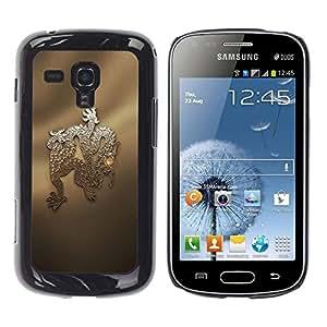 Be Good Phone Accessory // Dura Cáscara cubierta Protectora Caso Carcasa Funda de Protección para Samsung Galaxy S Duos S7562 // Snake China Chinese Culture Dragon