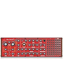The Behringer Neutron: a paraphonic analog and semi-modular synthesizer with dual 3340 VCOs, multi-mode VCF, 2 ADSRs, BBD delay and overdrive circuit in a Euro rack format. An updated incarnation of its predecessors with all the original feat...
