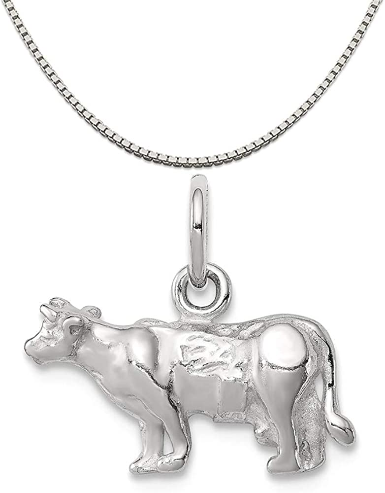 Mireval Sterling Silver Manatee Charm on a Sterling Silver Chain Necklace 16-20