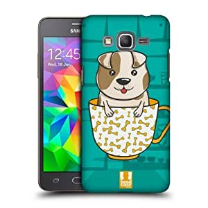 Head Case Designs Dog Teacup Pets Protective Snap-on Hard Back Case Cover for Samsung Galaxy Grand Prime 3G 4G Duos LTE G530 by icecream design