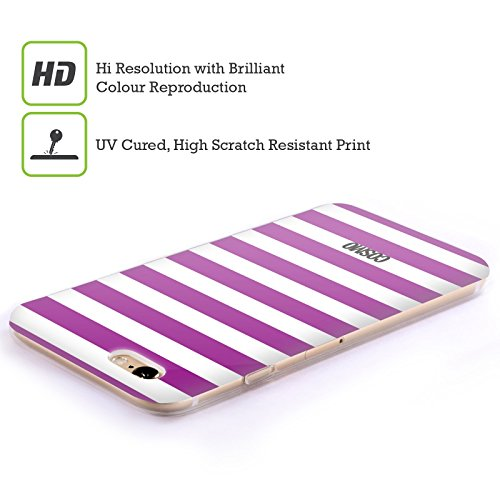 Official Cosmopolitan Violet Stripes Collection Soft Gel Case for Apple iPhone 4 / 4S