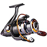 Sougayilang Spinning Fishing Reels with Left/right Interchangeable Collapsible Wood Handle Powerful Metal Body 5.2:1/5.1:1 Gear Ratio Smooth 11BB For Inshore Boat Rock Freshwater Saltwater Fishing (11BB 5.2:1 DK1000) For Sale