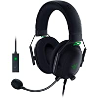 Razer BlackShark V2 Gaming Headset: THX 7.1 Spatial Surround Sound - 50mm Drivers - Detachable Mic - For PC, PS4, Nintendo Switch - 3.5 mm Headphone Jack & USB DAC - Classic Black