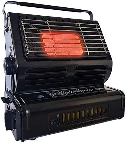 Netagon - Calentador de Gas de butano portátil para Viajes, Camping, Caravana y casa, Interior y Exterior, de cerámica, Color Negro