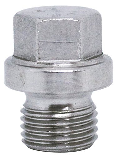 (2pcs) BelMetric M10X1 Flanged A2-50 Stainless Steel Hex Head Corrosion Resistant Plugs DIN 910 for Machinery and Fittings, Sealing Washers Included DP10X1.0HSS from BelMetric