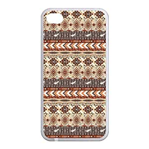 Custom Aztec Tribal Back case for iphone4,4S JN4S-367