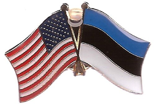 (ALBATROS Pack of 50 USA American Estonia Flag Hat Cap Lapel Pin for Home and Parades, Official Party, All Weather Indoors Outdoors)