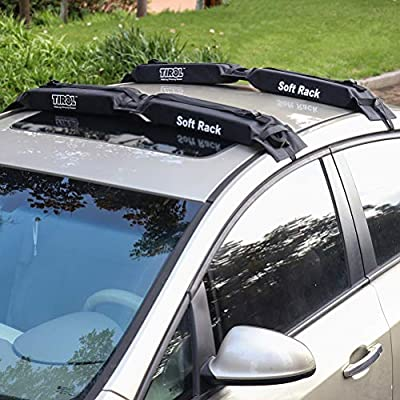 Docooler Roof Rack Cargo Carrier Rooftop and Luggage Carrier Load 60kg Baggage Easy fit Removable for most cars with 2 or 4 doors