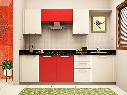Yes Kitchen Straight Modular Kitchen Length 8 Feet Width 2 Feet And Height  7 Feet