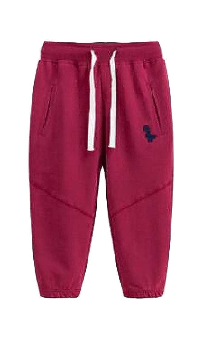 Hajotrawa Boys Sweatpants Elastic Waist Athletic Cartoon Basic Pants