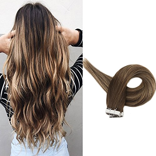 Full Shine 16 inch Skin Weft Professional Hair Extensions Om
