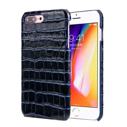 (iPhone 7 Plus Case, iPhone 8 Plus Case, Luxury Alligator Pattern Cowhide Leather Back Cover Case for iPhone 7 Plus/iPhone 8 Plus (Blue))