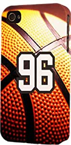 Baseball Sports Fan Player Number 96 Plastic Snap On Decorative iPhone 5/5s Case