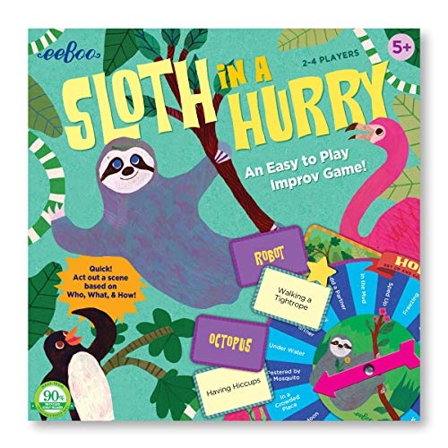 eeBoo Sloth in a Hurry Action Game for Kids