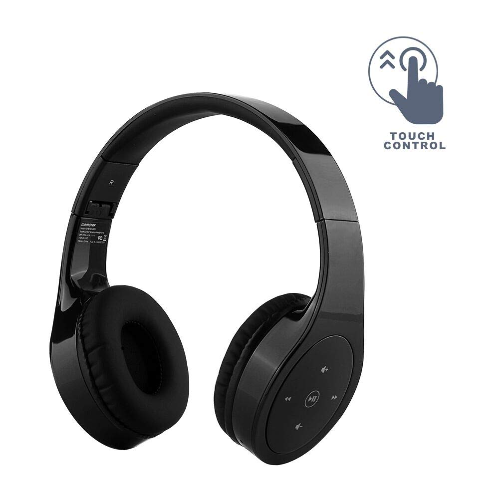 Memorex™ Bluetooth® Headphones with Touch Control - Black (MHBT0245BK)