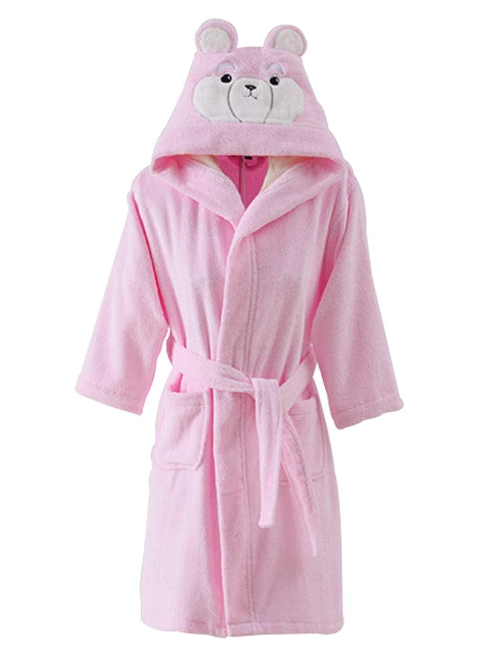 rose 4A HAHA  Garçon Fille Peignoir Sorcravate Drap de Bain pour Enfants Serviette de Bain VêteHommests de Nuit Pyjamas Robe de Chambre Coton 100%
