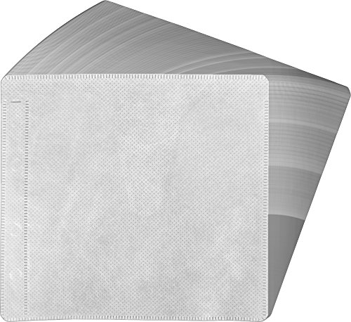Fabric Dvd (100 White 2-Disc CD DVD Fabric-Lined Ring Binder Wallet Sleeves CRY-2SVWH (Holds 50 Discs, Pages, Holder, Carrier, Case))