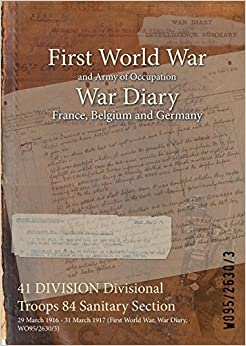 41 DIVISION Divisional Troops 84 Sanitary Section: 29 March 1916 - 31 March 1917 (First World War, War Diary, WO95/2630/3)