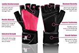 Weightlifting Gloves With Wrist Support - Workout Gloves With Wrist Padding For Lifting Weights, Cross Training, Power Lifting, Gym Equipment - Gym Gloves (Pink XS)