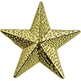 Set of 100 Chenille Pins - Gold Star