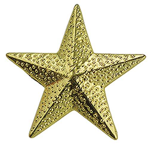 Set of 100 Chenille Pins - Gold Star (Pins School Award)