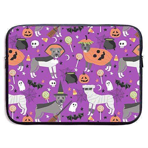 SWAKOJIJI Pitbull Halloween 13/15 Inch Laptop Sleeve Bag