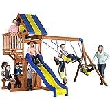 Backyard Discovery Peninsula All Cedar Wood Playset Swing Set