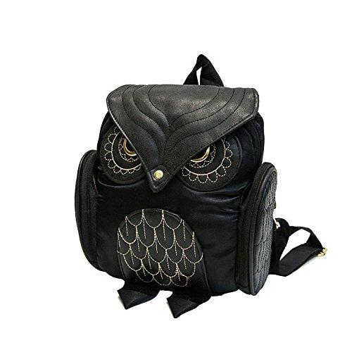 XENO-Women's Sequins Small Mini Backpack Rucksack Faux Leather Shoulder bag handbag(black)