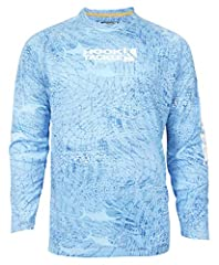 This awesome shirt from Hook & Tackle features a Sun Protection Factor (SPF) that exceeds 50 and its unique material feels very soft to the touch. Additionally, this shirt is anti-bacterial and its moisture management properties wicks exc...