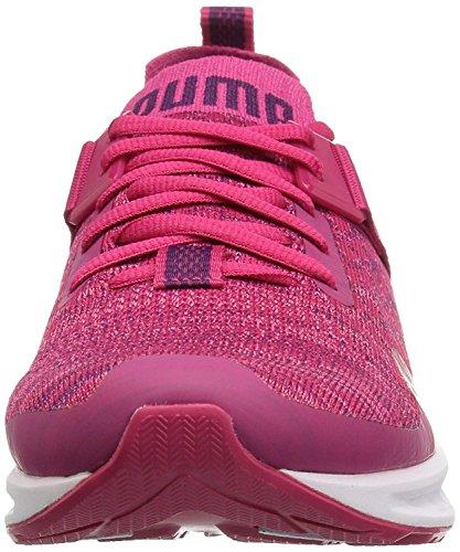 PUMA Kids' Ignite Evoknit Lo Jr Sneaker,Love Potion White,4 M US Big Kid by PUMA (Image #2)'