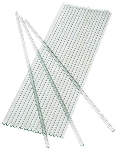 ANK-Trade Glass Stirring Rod 250 mm (9.8 inch) Glass Rod Pack: 20