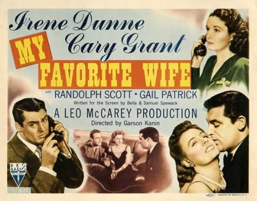Amazon.com: Pop Culture Graphics My Favorite Wife Poster Movie (1940) Style  A 11 x 14 Inches - 28cm x 36cm (Ann Shoemaker)(Granville Bates)(Irene  Dunne)(Cary Grant)(Randolph Scott)(Gail Patrick)(Scotty Beckett): Prints:  Posters & Prints